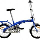 "Bicicleta pliabile, 16 inch, 12 inch, Numar viteze: 1 - Bicicleta pliabila Velors 16"""