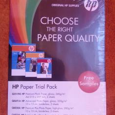 Hartie foto HP 8 bucati - 4 A4 ( 210x297 mm ) + 4 ( 10x15 cm ) - Hartie foto imprimanta