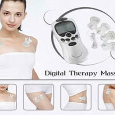 Aparat masaj - Aparat de fizioterapie electrostimulare masaj acupuntura Genki 4 ventuze