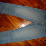 Blugi barbati Levi's, Lungi, Prespalat, Drepti, Normal - BLUGI LEVIS 501 -MARIMEA W33/L30(talie-86cm, lungime -106cm)