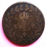 FRANTA 1 DECIME 1815 BB, LOUIS XVIII, PUNCT DUPA DECIME SI DUPA AN, Europa, An: 1815