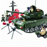 Tancul de lupta Enlighten Brick 823 joc de construit tip LEGO armata 466 piese