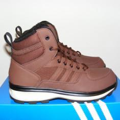 Ghete Adidas Chasker Boots Burgundy/Black din piele si imblanite nr. 44 - Ghete barbati Adidas, Culoare: Din imagine, Piele naturala