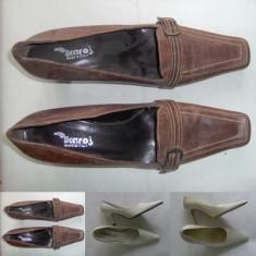 Pantofi, opincute dama/femei, noi,, Ikaros piele naturala nr 41 - Pantof dama, Culoare: Maro