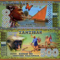 TERITORIUL ECUATORIAL- ZANZIBAR- 500 FRANCS 2015- POLYMER- UNC!! - bancnota africa