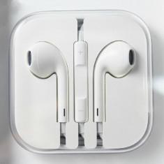 Casti Telefon, iPhone 6, Alb, In ureche, Pliabile, Comenzi pe fir - Casti iPhone 6