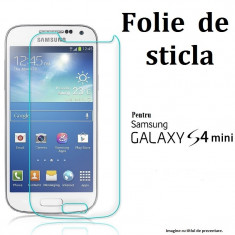 FOLIE STICLA Samsung Galaxy S4 MINI 0.33mm, 2.5D tempered glass antisoc PROTECTIE - Folie de protectie Samsung, Anti zgariere