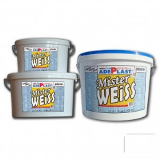 Vopsea alba pentru interior Mister Weiss - 8 L