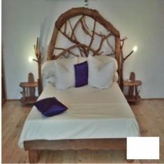 Pat dormitor - Pat o persoana capatai carpen Gardenland - PAT 014
