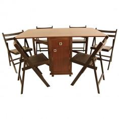 Bucatarie standard - Masa plianta cu 6 scaune pliante
