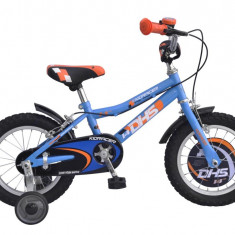 KID RACER 1403 - model 2015-Portocaliu - Bicicleta copii DHS