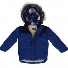 Geaca iarna baieti 3-10 ani, marca Freaky Clothing (UK), visiniu si albastru