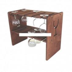 Suport lemn pentru pahare cu picior