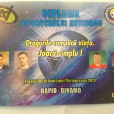 Vând diploma Rapid Bucuresti-Dinamo Bucuresti