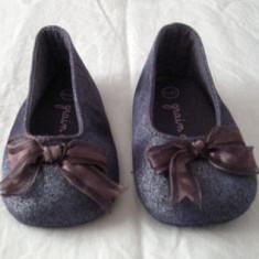 Pantofi copii, Fete, Textil - Pantofi fetite eleganti marimea 17/18 (3 - 9 luni) GRAIN DE BLE