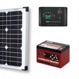 Sistem Solar Fotovoltaic Complet Pentru Iluminat Charger 12 V 20 W Lumina GRATIS