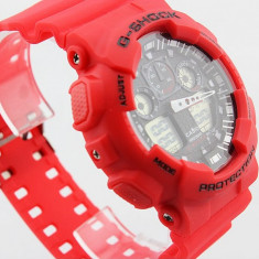 CASIO G-SHOCK GA 100, Red Edition - Ceas barbatesc