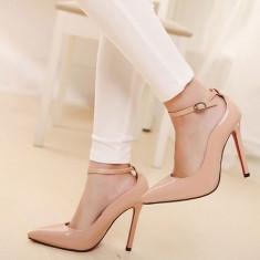 Pantofi dama - CH2240-15 Pantofi eleganti stiletto, cu toc inalt si barete