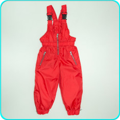 Pantaloni tip salopeta de iarna, grosi, impermeabili _ fetite | 2-3 ani | 98, Marime: Alta, Culoare: Rosu, Fete