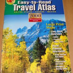 Travel Atlas - ATLAS Rutier U.S.A. - America / Rand McNally - Harta Turistica