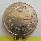 Moneda 100 lei - ROMANIA, Regat 1943 *cod 1266 xf+ - Moneda Romania