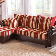 Canapea, Canapea in stil clasic, Canapele fixe, Din piele ecologica - Coltar fix Bali din Germania, foarte chic, ecopiele+ textil