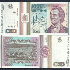 Bancnote Romanesti, An: 1993 - ROMANIA 1000 1.000 LEI 1993 [0] UNC, necirculata