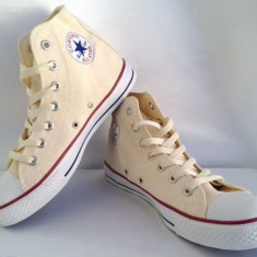 Tenisi / Tenesi Converse All Star Chuck Taylor CREM Gheata marimi 38 - Tenisi dama Converse, Textil