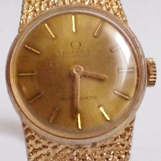 Ceas original Omega Costelletion Antimagnetic - Ceas dama Omega, Elegant, Mecanic-Manual, Placat cu aur, Analog