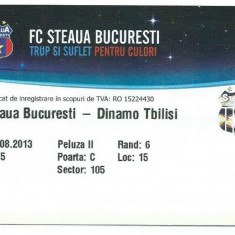 Bilet meci Steaua - Dinamo Tbilisi (2013)