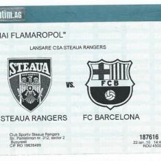 Bilet meci hochei Steaua Rangers - FC Barcelona / 2010