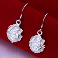 Cercei argint 925 + cutie cadou; 1 cm diametru