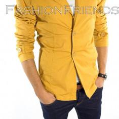 Palton tip ZARA mustar - palton barbati - palton slim fit - cod 5361