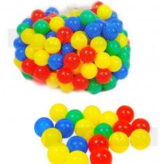 Set 200 bile colorate diametru 5, 5 cm Baie bile - Tarc de joaca, 3-6 ani, Multicolor