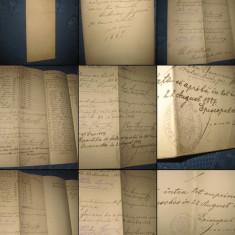 ACTE2 vechi Romania. Repartitiunea Caras Severin datat- 22 08 1887. - Pasaport/Document, Romania 1900 - 1950