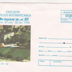Bnk fil Intreg postal 1993 - Aeromfila 93 Bacau - avion IAK 52