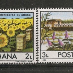 Timbre Romania, Nestampilat - Romania.1987 Apicultura CR.740