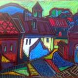 Tablou, Peisaje, Ulei, Abstract - Peisaj baimarean original ISTVAN KOZMA