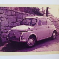 Fotografie, Portrete, Romania 1900 - 1950 - FOTO AUTO FIAT 500 D 1960-1965