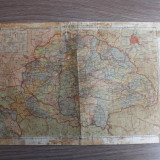 Harta a Ungariei din perioada cand Transilvania se afla sub ocupatia lor.Redusa!