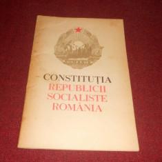 *** CONSTITUTIA REPUBLICII SOCIALISTE ROMANIA 1965 - Carte Drept constitutional
