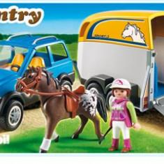 Masina Cu Remorca Pentru Cal - Masinuta electrica copii Playmobil