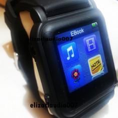 Ceas smartwatch ebook muzica citeste txt-poze-video-mp4 +cablu+casti+incarcator