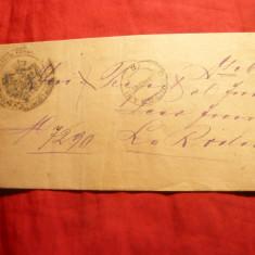 Plic Oficial -Prefectura Judet Olt, expediata de la Dragasani la R.Valcea 1896