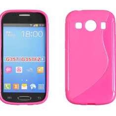 Husa Samsung Galaxy Ace 4 G357F TPU S-LINE Pink - Husa Telefon Samsung, Roz, Gel TPU, Fara snur, Carcasa