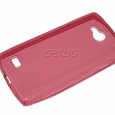 HUSA LG JOY H220 SILICON ultraslim CORAL AG - Husa Telefon LG, Allview P5 Mini, Transparent, Cu clapeta
