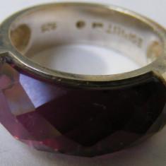 Inel argint - Inel vechi din argint ESPRIT cu piatra colorata