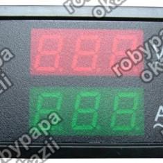 Voltmetru/ampermetru dig., cu LED-uri, 6 digiti, c.a., 80-300V/0-50A