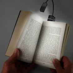 Lampa de carte neagra Ereader