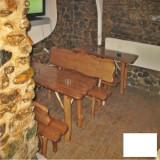 Banci de gradina - Masa cu 2 banci din brad Gardenland - MSI 003